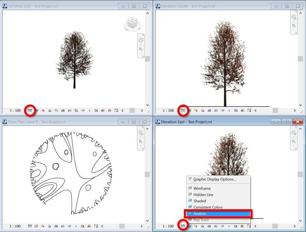 Create Elevation Plan In Revit : Create scalable revit trees with custom plan and elevation