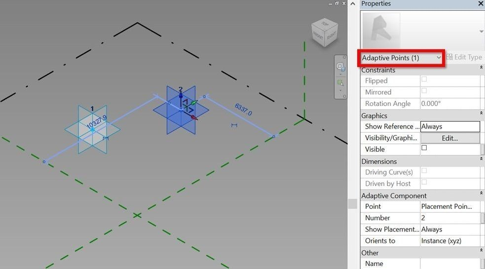 Revit-tutorial-3d-parametric-array-05-adaptive-points