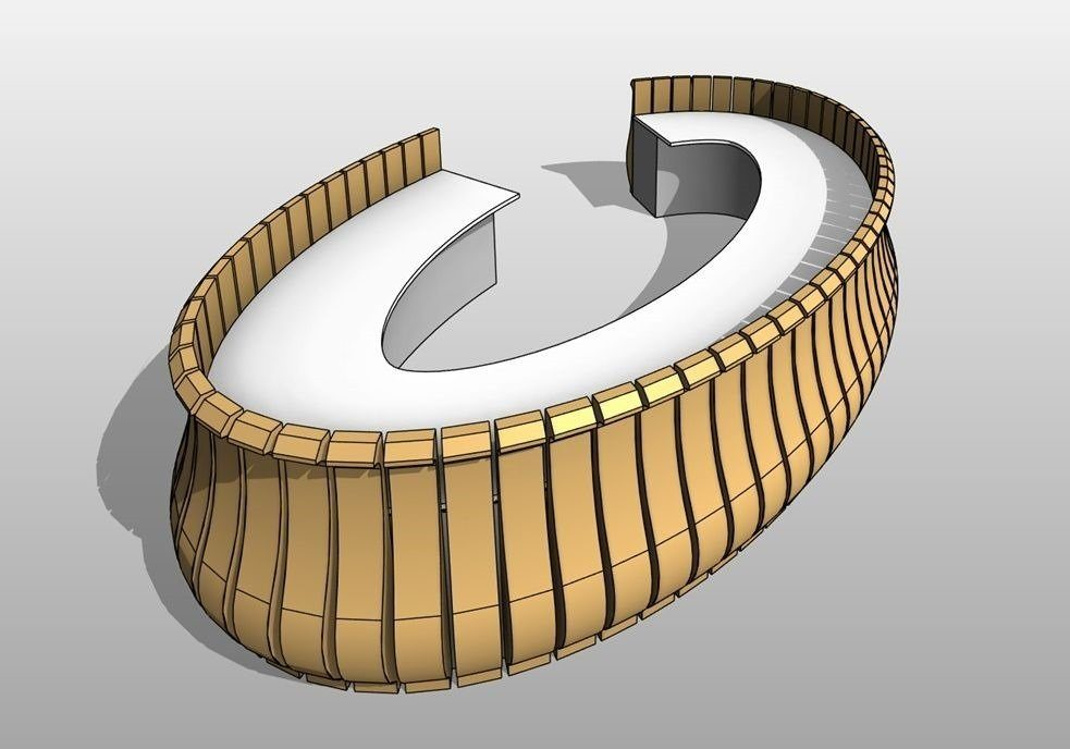 Create Revit families with elements arrayed along 3D curves