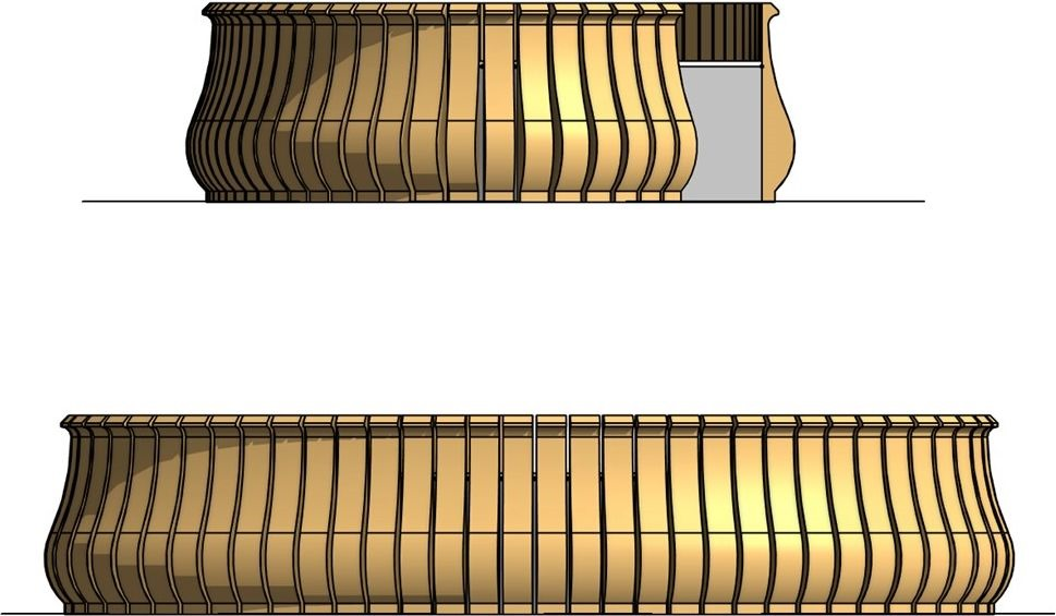 Revit Reception Table With Parametric Timber Slat Array Rv Boost