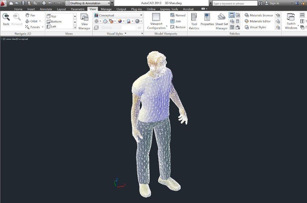 02-Revit-tutorial-3D-people-3D-DWG