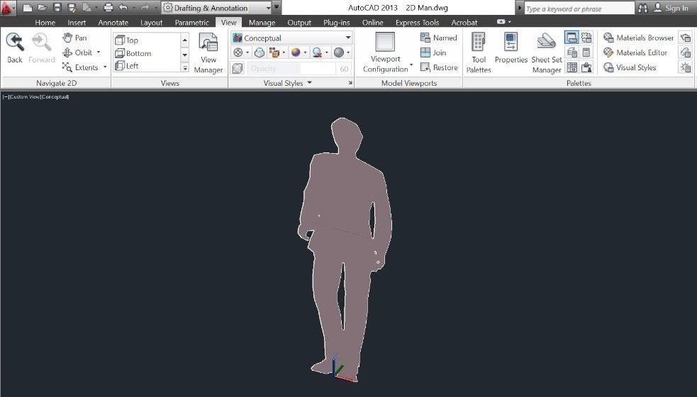 03-Revit-tutorial-3D-people-2D-DWG