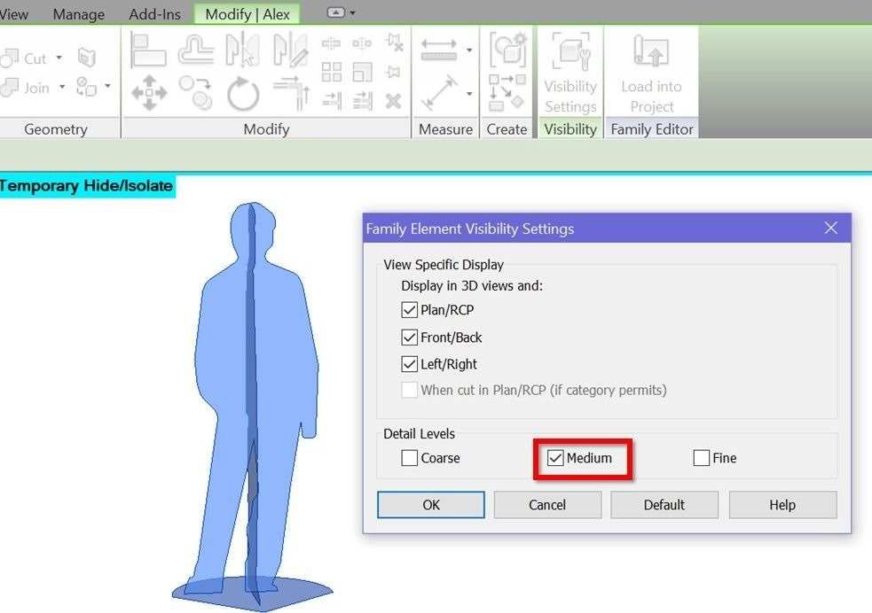 Create truly 3D Revit people - RV Boost
