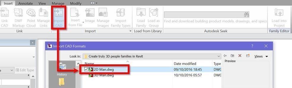 06--Revit-tutorial-3D-people-import-2D-DWG