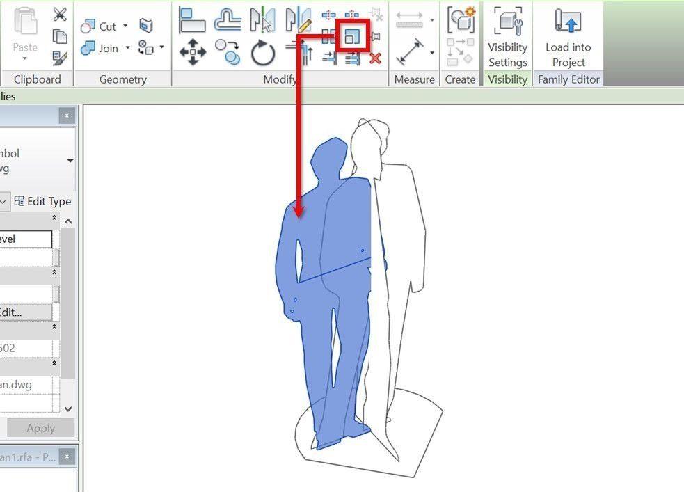 07-Revit-tutorial-3D-people-scale-2D-DWG