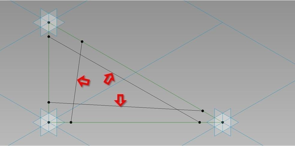 Create triangular curtain panel with gap joints - Revit Boost