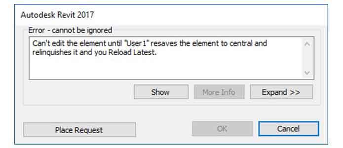 revit worksharing cannot edit cad dwg file