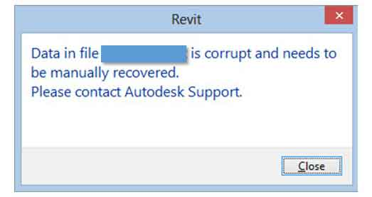 revit data corruption due to exploded imported dwg cad file