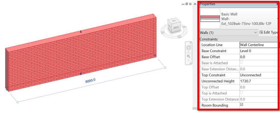 revit wall properties
