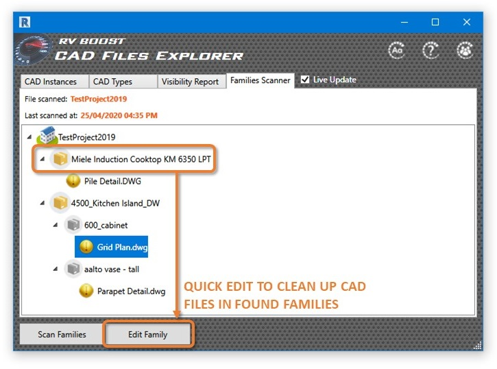 cad files explorer for revit edit a family with imported dwg