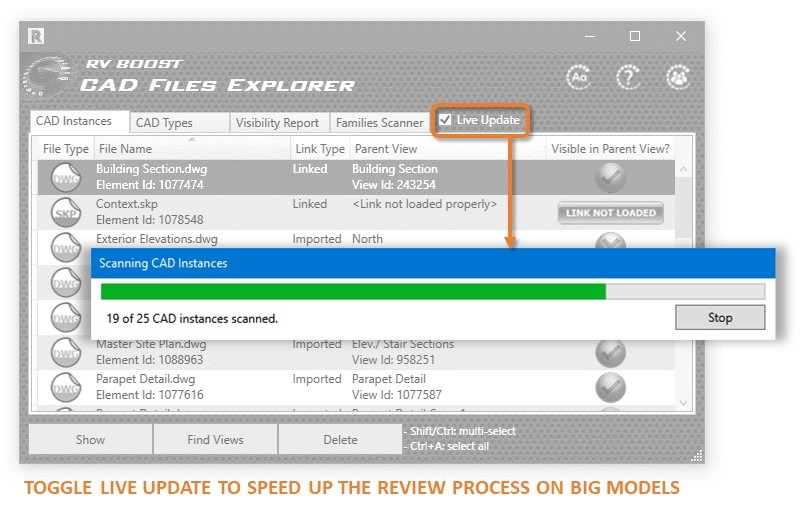 cad file explorer updating the list of dwg files