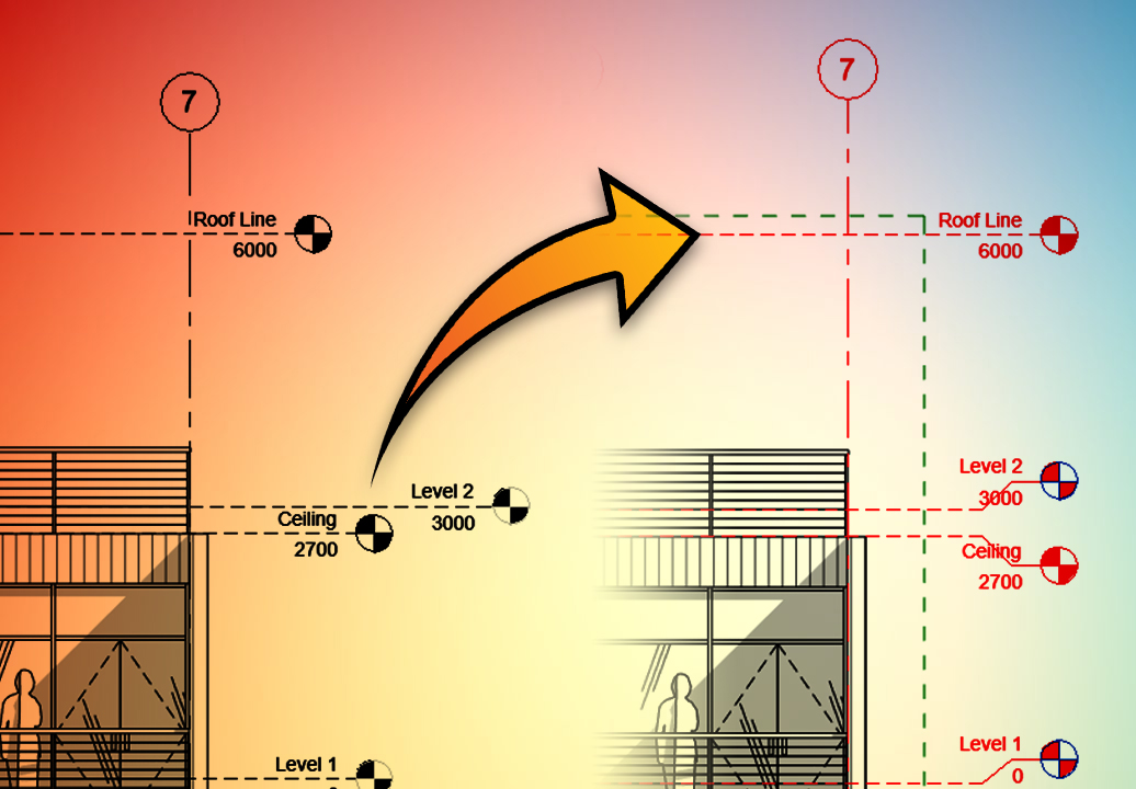 revit lines and levels